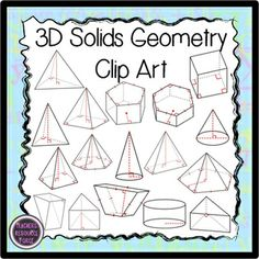 """3D Solids for Geometry (suitable for high school math) - I""""VE BEEN LOOKING FOR THIS FOREVER!"""