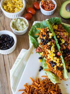 Southwest Sweet Potato Lettuce Wraps | Lemons and Basil