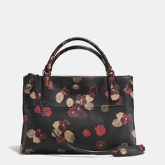 Turnlock Borough Bag in Floral Print Leather