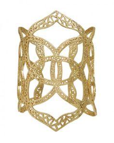 Roni filigree cuff in gold by Kendra Scott