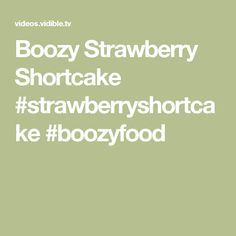 Boozy Strawberry Sho