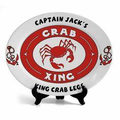Oval Crab Ceramic Platter