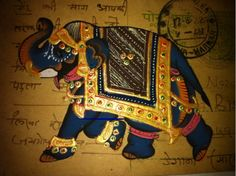 Indian hand painted postcards