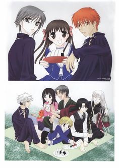 Fruits Basket- Tohru, the Cat, Rat, Cow, Boar, Rabbit, Snake, Dog, and Dragon (Seahorse)