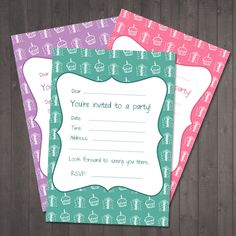 Free party invitations - Cake and Presents