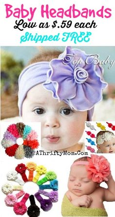 Baby head bands, so