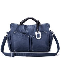 Blue Career Builder Handbag