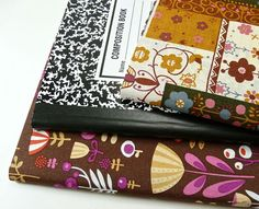 Tutorial: A super-simple way to cover a composition book
