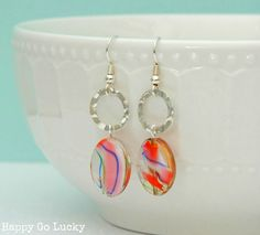 Happy-Go-Lucky: 15 Minute Handmade Earrings {with a giveaway}