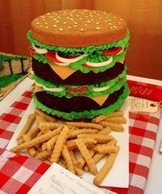 Delicious burger cake!