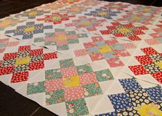 30s repros granny square quilt blocks progress  (Adventures with Alice - Darlene Zimmerman/Kaufman)