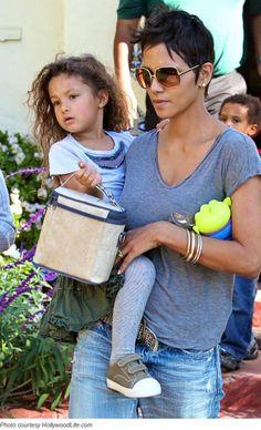 Halle Berry and daughter Nahla hall berri, daughter nahla