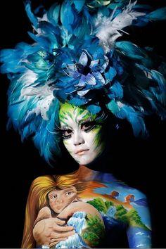 The international body painting festival~