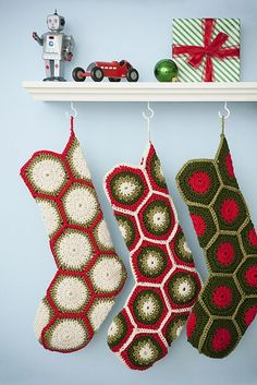 Crocheted Granny Stockings