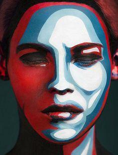 超神人臉藝術!這是真人我不信我不信 | 鍵盤大檸檬 alexand khokhlov, optical illusions, face paintings, body paintings, makeup, artist, painted faces, face art, portrait