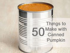 Break out the can opener this season - #FNMag has 50 things you can  make with canned pumpkin (yes, 50!).