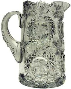 Antique Cut Glass Ice Tea or Ice Water Pitcher