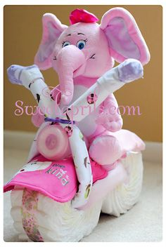 Diaper Motorcycle Tutorial - So Much Cuter Than a Cake.