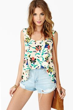 Pop Tropic Tank by Nasty Gal