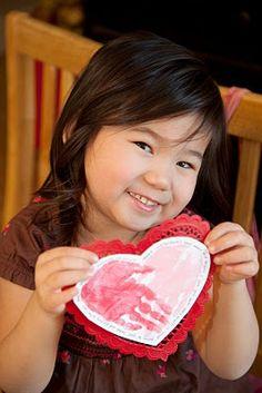 Valentine's Day Handprint Craft