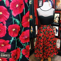 A self-respecting pin up girl can never have too many circle skirts and the beautiful Poppy is no exception! #blamebetty #poppy #1950sfashion