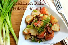 Scallion Dill Potato Salad - Happy Healthnut