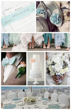 Teal and Gray Wedding Inspiration