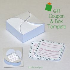 Gift Coupon Template {free printable} from Doodles and Jots.
