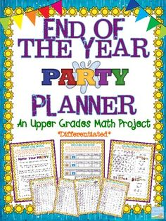 What better way to end the year than by planning a party? Your students will love reviewing their year in math by putting together their very own shindig, from the ground up. $