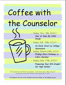 The Middle School Counselor: Coffee With The Counselor: Early College Awareness