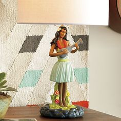 hula lamp in table lamps   CB2