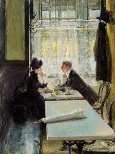 Gotthardt Kuehl - Lovers in a Cafe