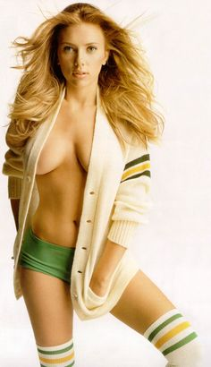 Scarlett Johansson - Totally hot and totally NSFW.