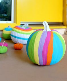 Rainbow Pumpkins!