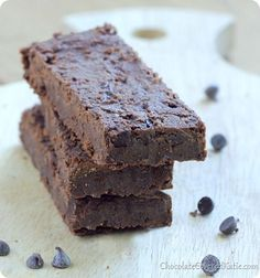 Chocolate Fudge Brownie Protein Bars: http://chocolatecoveredkatie.com/2013/10/08/fudge-brownie-chocolate-protein-bars/
