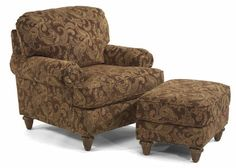 Flexsteel Furniture: Lounge Chairs: JoplinChair & Ottoman (5975-10-08)