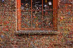 coins, names, jordans, countless color, sticki situat, post alley, earth, place, gum wall