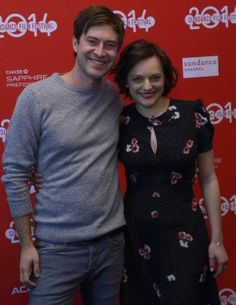 "Mark Duplass and Elisabeth Moss of ""The One I Love,"" about a struggling couple on a weekend escape, at the film's Sundance premiere. (Leah Hogsten  