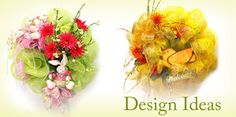 Cute Easter and Spring Mesh Wreaths