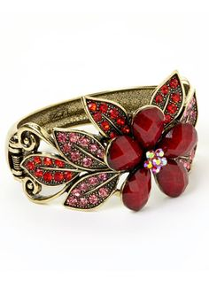 Floral Gemstone Bangle <3