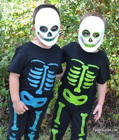 halloween idea, diy fashion, diy collect, diy halloween costumes, skeletons, handmad diy, diy gifts, skeleton costum, halloween skeleton
