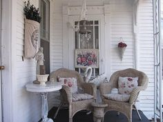 front porch first of spring...