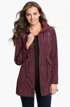Laundry by Shelli Segal Packable Hooded Anorak | Nordstrom