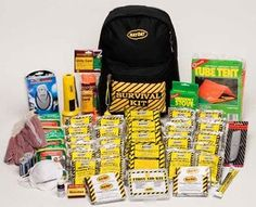 Mayday 4 Person Deluxe Emergency Backpack Kit : Amazon.com : Sports & Outdoors 78.00 with shipping, has tent