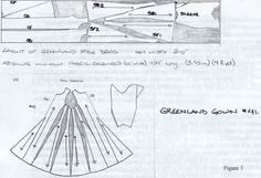 Pattern for the Greenland gown.