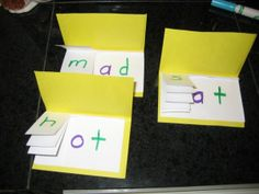 flip books to teach reading (word families). I would use these to help my 8 year old master those words that are spelled the same but sound out differently (where/there/here/sphere/were).