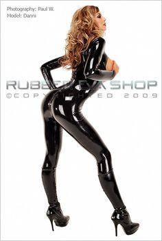 Open Bust Catsuit - Rubber Catsuits - Rubber Eva Shop