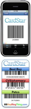 Scan all of your loyalty cards into Card Star. Lose the keychain tags and lighten your wallet!
