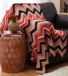 Um, hello Fall Zig Zag Afghan Pattern. What an awesome crochet ripple pattern.