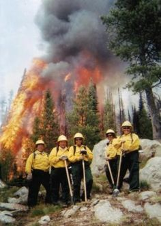 An all-women wildland firefighter crew from the White Mountain Apache Tribe, who have been fighting fires in Arizona and throughout the U.S., for over 30 years.